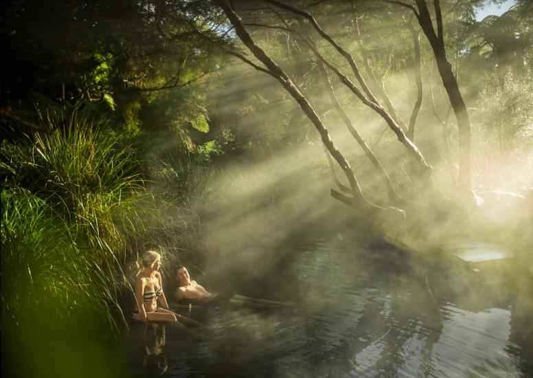 Natural Thermal Bathe Lake Tarawera Solitaire Lodge New Zealand 0