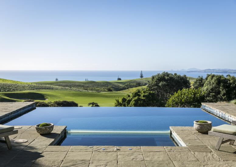 Kauri Cliffs Owners Cottage Pool and Patio 1