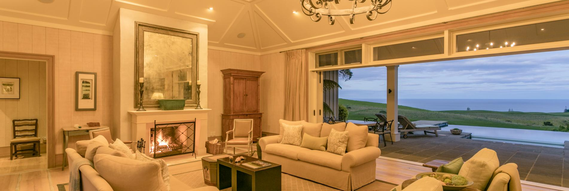 Kauri Cliffs Owners Cottage Main Lounge 2