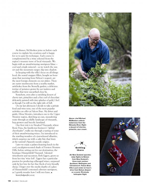 Gourmet Traveller Falcon Brae feature April 2021 Page 20